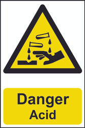 Danger Acid PVC Sign (200 x 300mm)