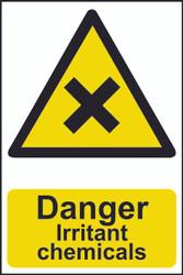 Danger Irritant Chemicals PVC Sign (200 x 300mm)