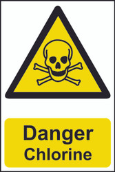 Danger Chlorine PVC Sign (200 x 300mm)