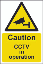 Caution CCTV In Operation Sign (200 x 300mm)