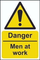 Danger Men At Work Sign (200 x 300mm)
