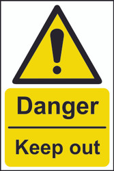 Danger Keep Out Sign (200 x 300mm)