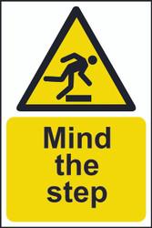 Danger Mind The Step Sign (200 x 300mm)