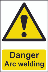 Danger Arc Welding PVC Sign (200 x 300mm)