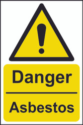 Danger Asbestos Sign (200 x 300mm)