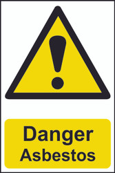 Danger Asbestos PVC Sign (200 x 300mm)