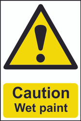 Caution Wet Paint PVC Sign (200 x 300mm)