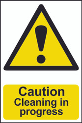 Caution Cleaning In Progress PVC Sign (200 x 300mm)