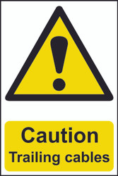 Caution Trailing Cables PVC Sign (200 x 300mm)