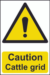 Caution Cattle Grid PVC Sign (200 x 300mm)