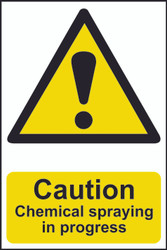 Danger Chemical Spraying In Progress PVC Sign (200 x 300mm)