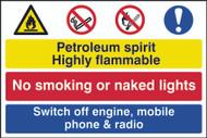 Hazardous Area, No Unauthorised PVC Sign (600 x 400mm)
