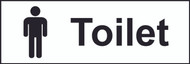Toilet With Icon Sign (300 x 100mm)