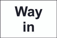 Way In/Out Sign (200 x 300mm)