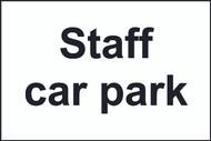 Staff Car Park Sign (300 x 200mm)