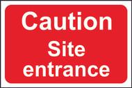 Caution Site Entrance FMX Sign (400 x 600mm)