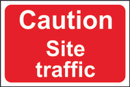 Caution Site Traffic PMX Sign (600 x 400mm)