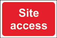Site Access FMX Sign (400 x 600mm)
