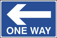 One Way With Arrow FMX Sign (400 x 600mm)