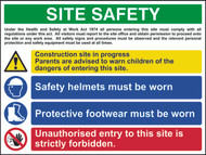 Site Safety Composite RPVC Sign (800 x 600mm)