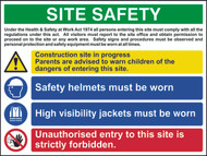 Site Safety Composite 4 RPVC Sign (800 x 600mm)