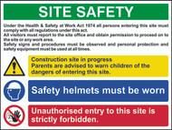 Site Safety Composite 3 CRX Sign (800 x 600mm)