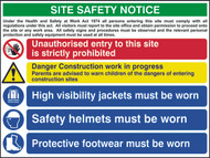 Site Safety Composite 5 RPVC Sign (800 x 600mm)