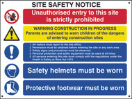 Composite Site Safety Notice FMX Sign (800 x 600mm)
