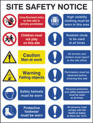 Site Safety Notice FMX Sign (600 x 800mm)