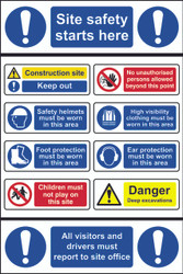 Site Safety Starts Here CRX Sign (600 x 900mm)