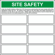'Build Your Own' Site Safety Sign (650 x 650mm)