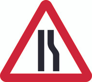Road Narrows Right Triangle Temporary Road Sign