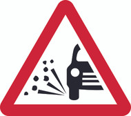 Loose Gravel Triangle Temporary Road Sign