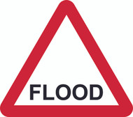 Flood Triangle Temporary Road Sign