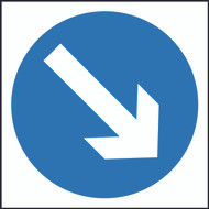 Keep Right/Left Square Temporary Road Sign