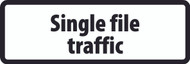 Single File Traffic Supplementary Plate