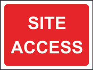 Site Access Temporary Road Sign