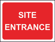 Site Entrance Temporary Road Sign