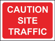 Caution Site Traffic Temporary Road Sign