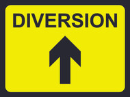 Diversion (With Arrow) Temporary Road Sign