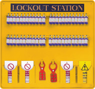 48 Padlock Lockout Station Premier