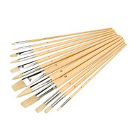 Artists Paint Brush Set 12pce Mixed Tipped