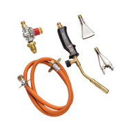 100mm Plumbers Gas Torch With Regulator & Hose
