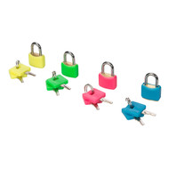 Hi-Vis Brass Padlocks Set 4pce