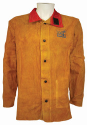 Premium Gold Leather With Flame Retardant Back Jacket