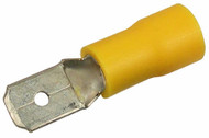 Yellow Male Insulated Spade Connectors (Bag Of 100)