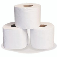 White 2 Ply Contractors Toilet Rolls (Pack of 36)
