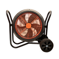 Air Raid Fan On Wheels In Black