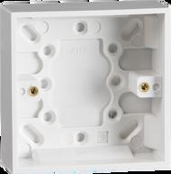 Single White Pattress Box