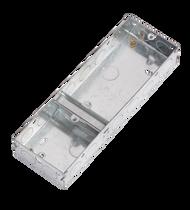 3 Gang 35mm Deep Single & Double Combined Steel Back Box